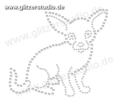 Hotfix Motive Hund2 - Strassmotive Bügelbilder Strasssteine