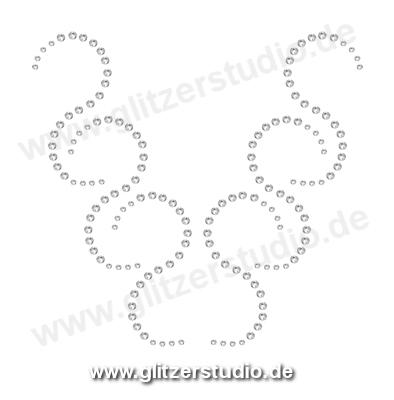 Hotfix Motive design49 - Strassmotive Bügelbilder Strasssteine