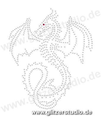 Hotfix Motive Drache2 - Strassmotive Bügelbilder Strasssteine
