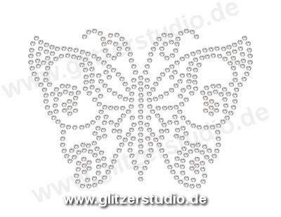 Hotfix Motive Schmetterling8 - Strassmotive Bügelbilder Strasssteine